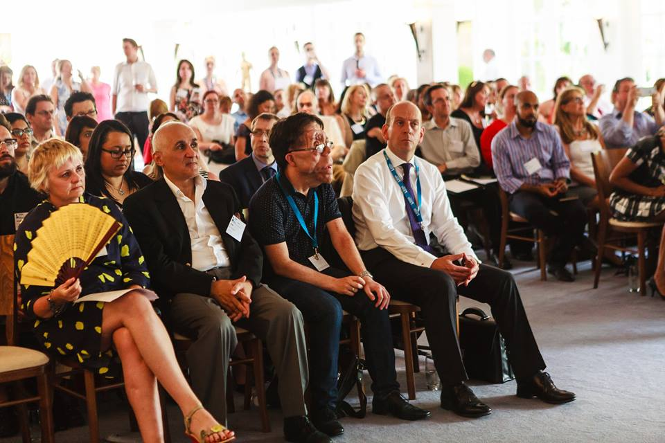 Delegates and speakers in the audience at the Partner Group Reception