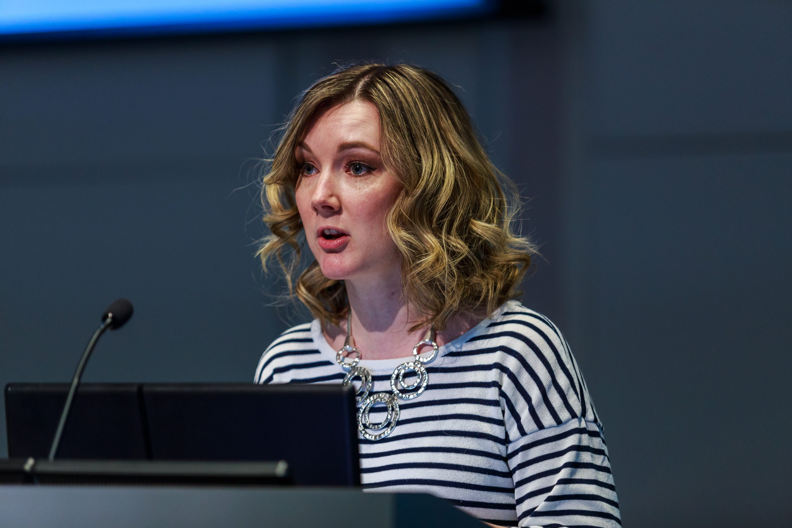 Lucy Ruck speaking at Business Disability Forum's conference in 2017