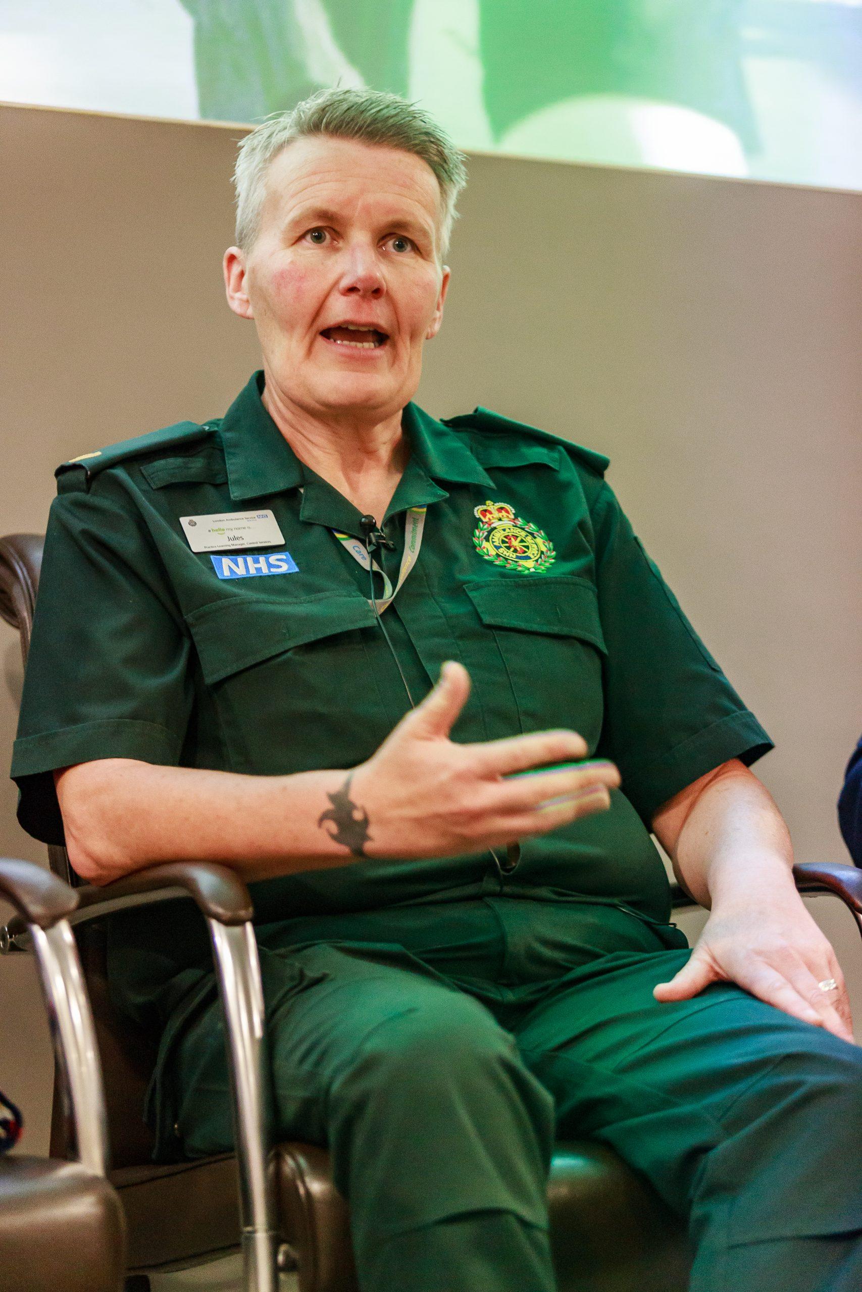 Jules Lockett from London Ambulance