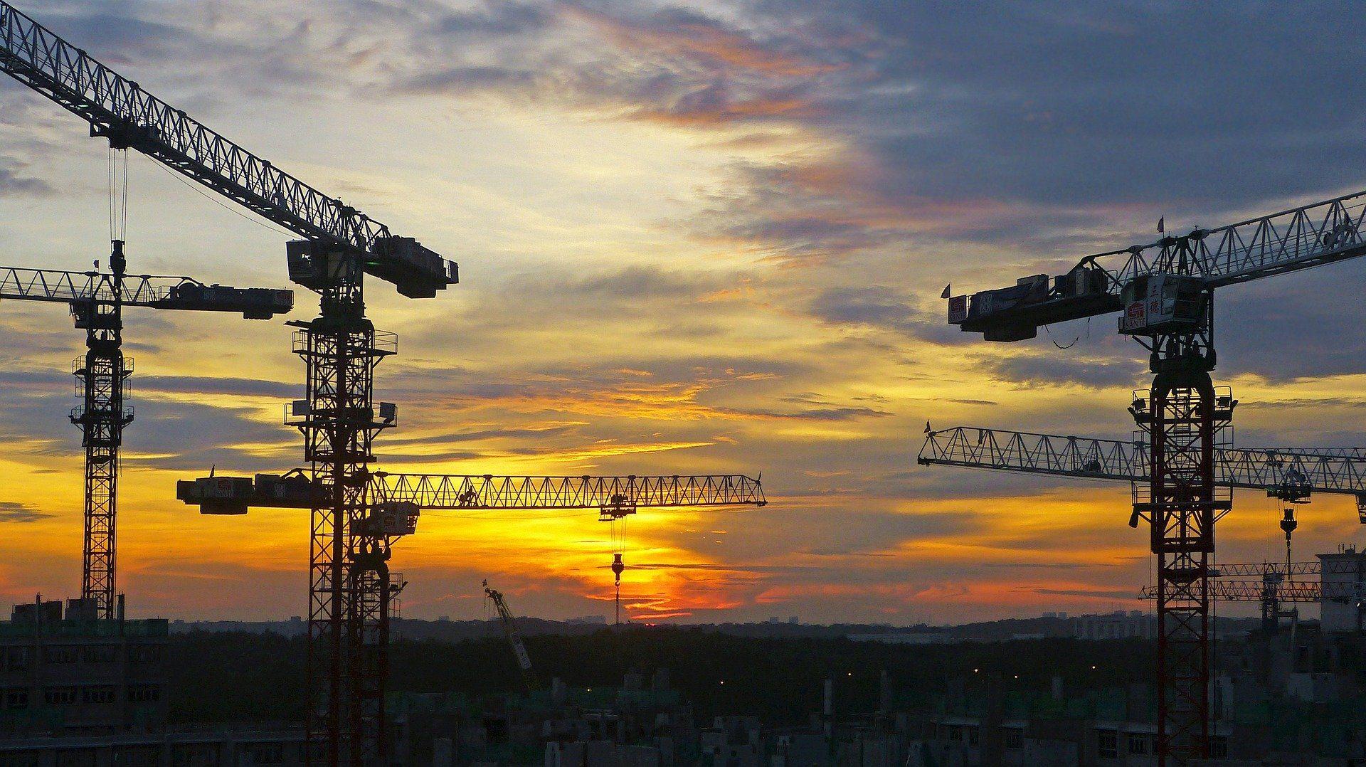 Image of construction cranes