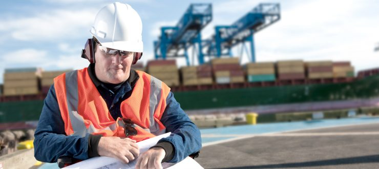 Image of man at building site