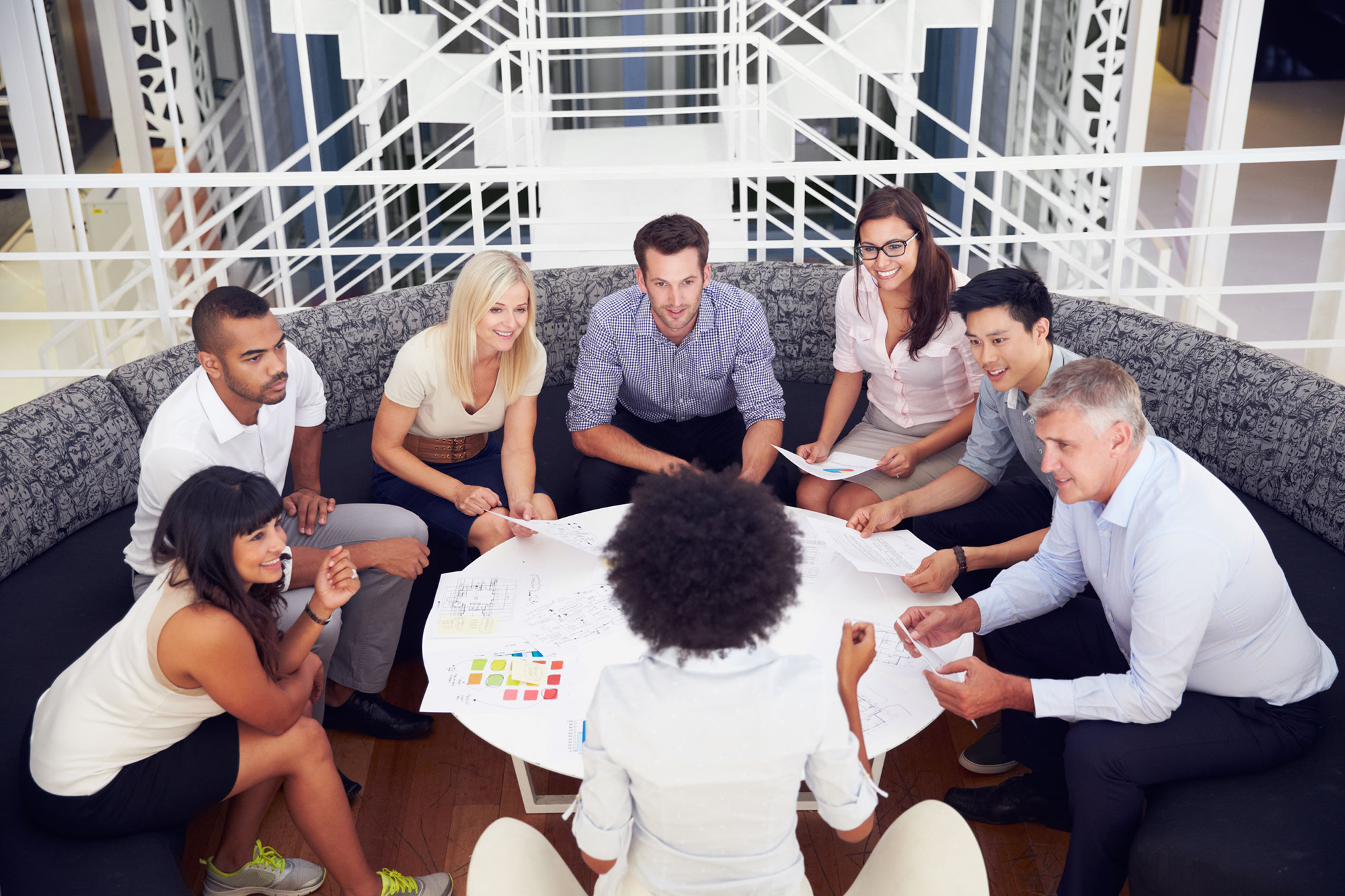 Image of people holding a meeting