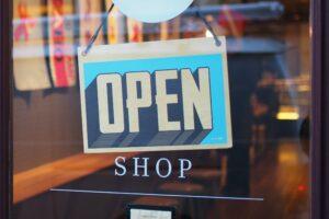 An open sign