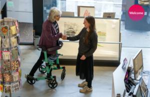 Edinburgh Printmakers welcoming a disabled customer