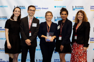 The EmployAbility team and BDF's CEO Diane Lightfoot