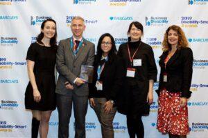 Stef Reid, Sean Gilroy, Lleena Haque, Award presenter Wendy, Diane Lightfoot