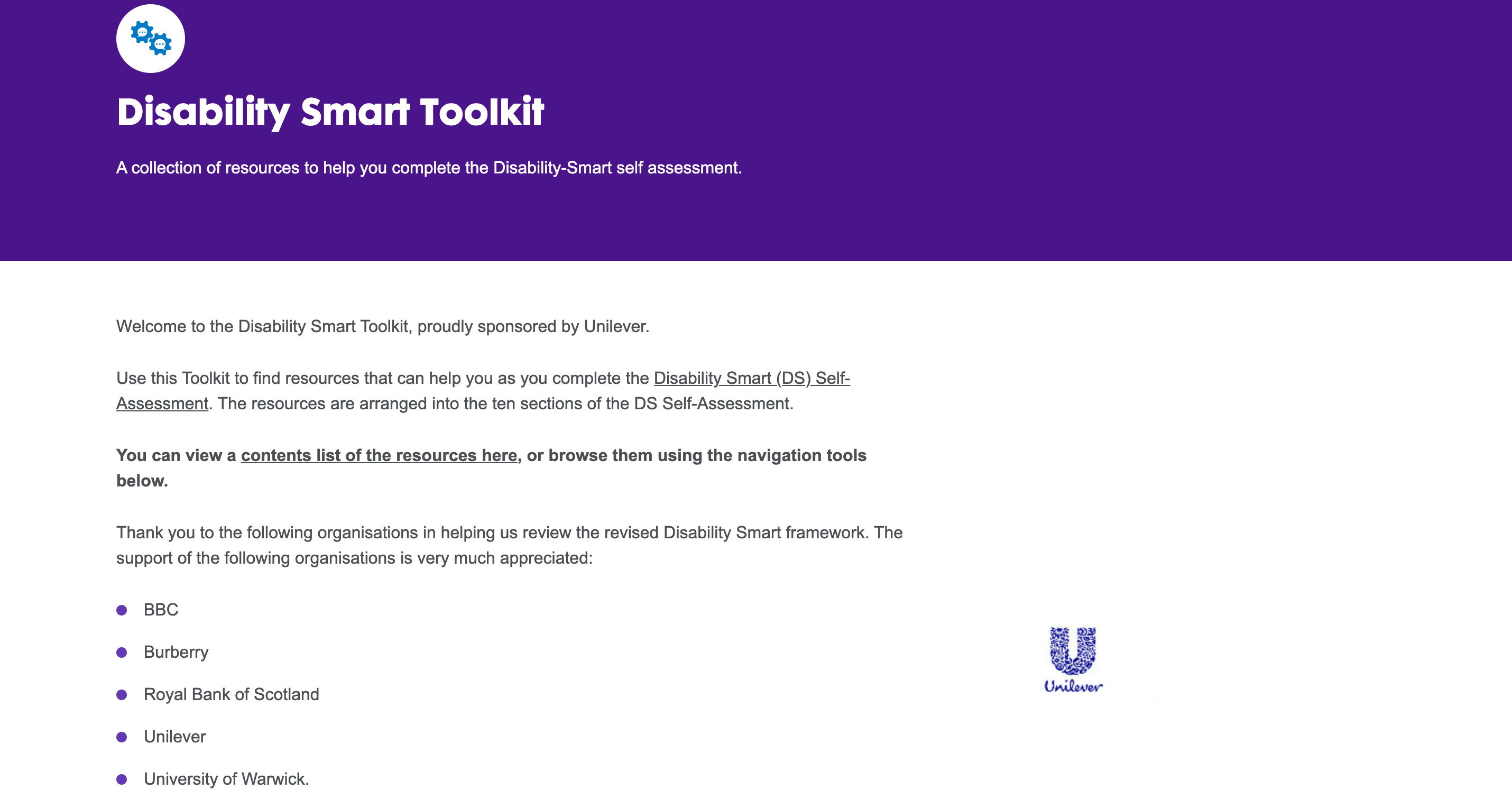 Disability Smart Toolkit homepage