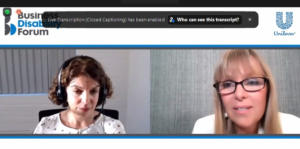 Screengrab from the first webinar